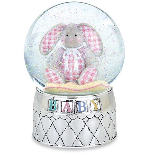Reed & Barton Gingham Bunny Waterglobe - Available from SilverGallery.com