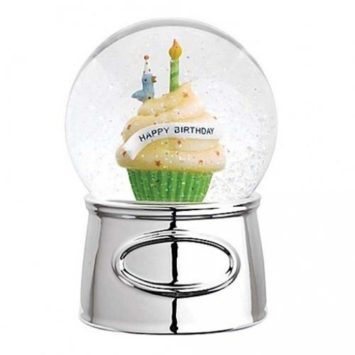 Reed & Barton Let's Celebrate Happy Birthday Snowglobe - Engrave it at SilverGallery.com