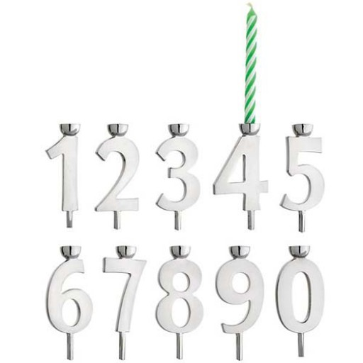 Reed & Barton Let's Celebrate Birthday Candle Holders - Available from SilverGalleyr.com