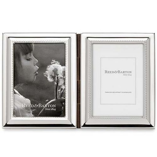 Reed Barton Capri Silverplated Double Picture Frame 3 X 5