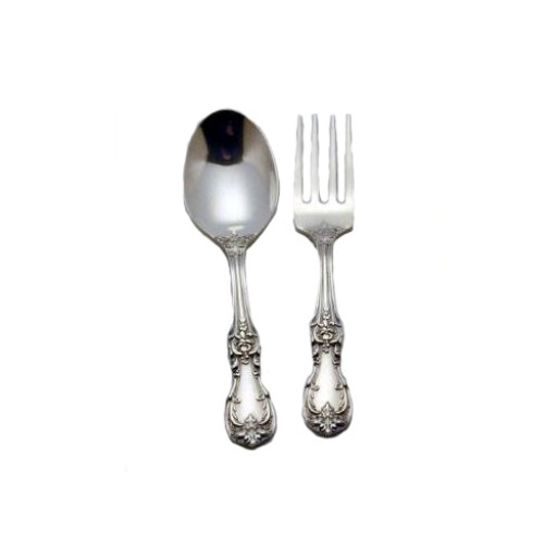 Reed & Barton Burgundy Sterling Baby Spoon & Fork Set - Available from SilverGallery.com