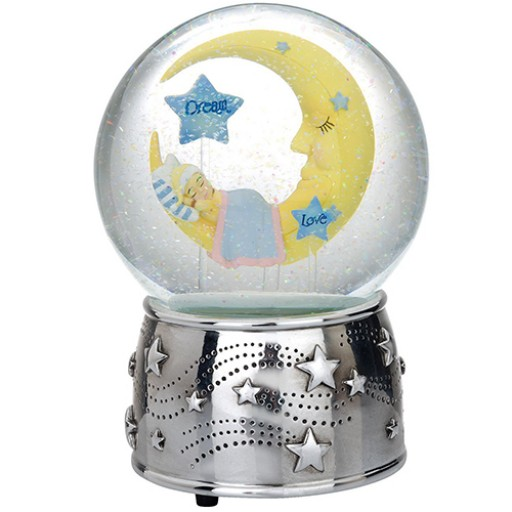 Reed & Barton Sweet Dreams Musical Snowglobe - Available from SilverGallery.com