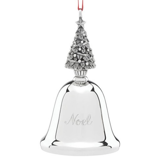 Reed & Barton 2016 Noel Bell Christmas Tree Musical Ornament - Available from SilverGallery.com