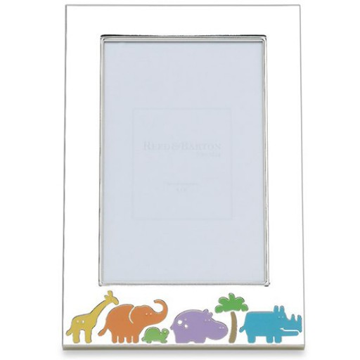 Reed & Barton Jungle Parade Picture Frame - Engrave it at SilverGallery.com