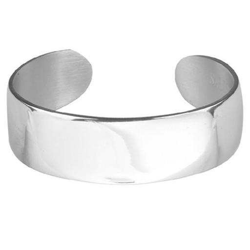 Salisbury Pewter Plain Cuff Bracelet Engravable