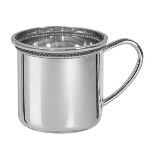 Salisbury Sterling Cambridge Beaded Edge Silver Baby Cup - Available from Silver Gallery