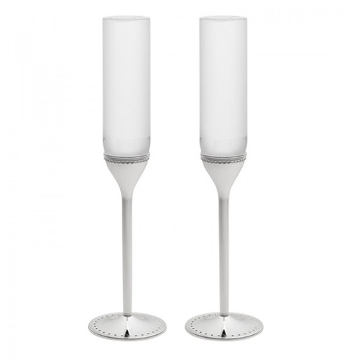 Vera Wang Grosgrain Wedding Toasting Flutes - Available from SilverGallery.com