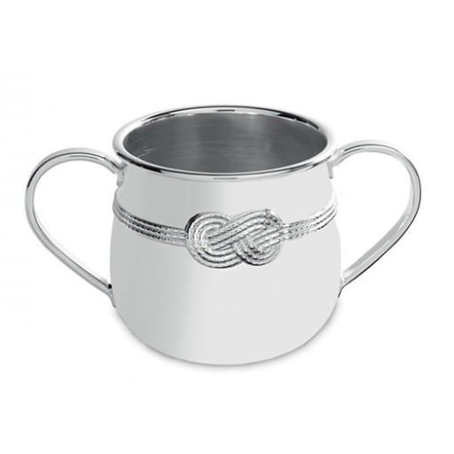 Vera Wang Infinity Baby Cup - Engrave Yours at SilverGallery.com