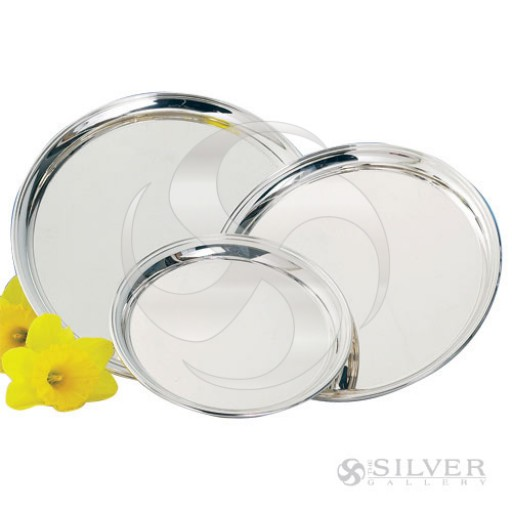 "Empire Round Sterling Silver Presentation Tray - 10"" - Engrave yours at SilverGallery.com!"