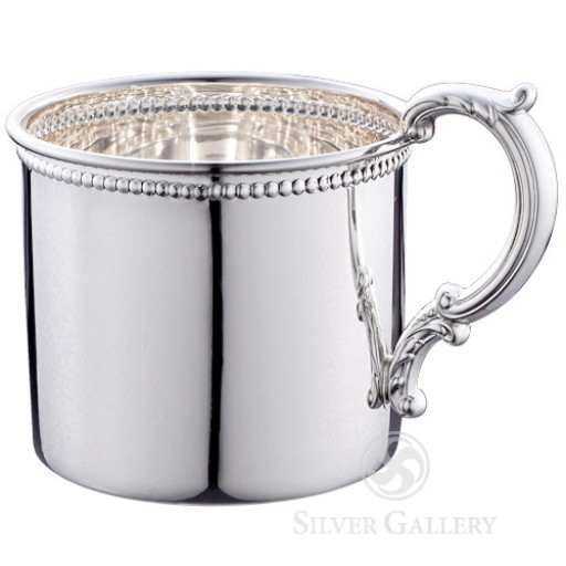 Empire Sterling Silver Beaded Baby Cup