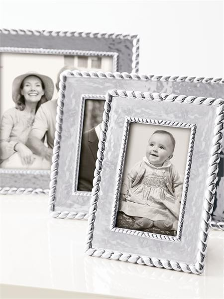 Mariposa Meridian Textured Twist Engravable Picture Frame - 4 x 6
