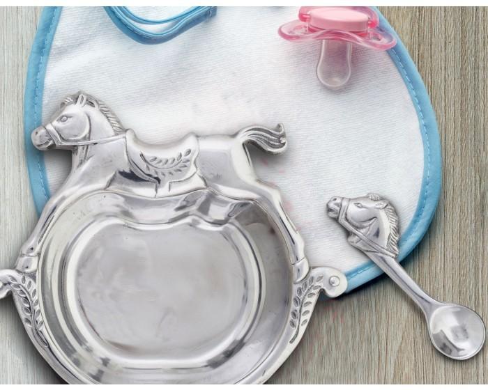 Arthur Court Rocking Horse Personalized Baby Gift Set