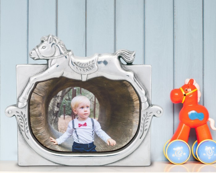 Arthur Court Rocking Horse Baby Picture Frame 4 X 6