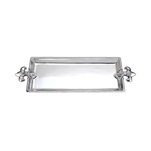 Arthur court french lily oblong tray - Fleur de lis serving tray ...