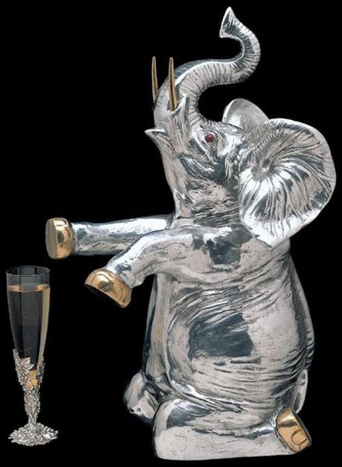 Arthur Court Elephant Wine Cooler
