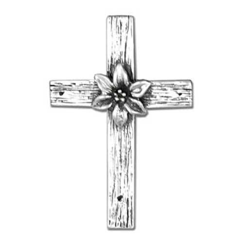rustic lily cross brooch. Black Bedroom Furniture Sets. Home Design Ideas