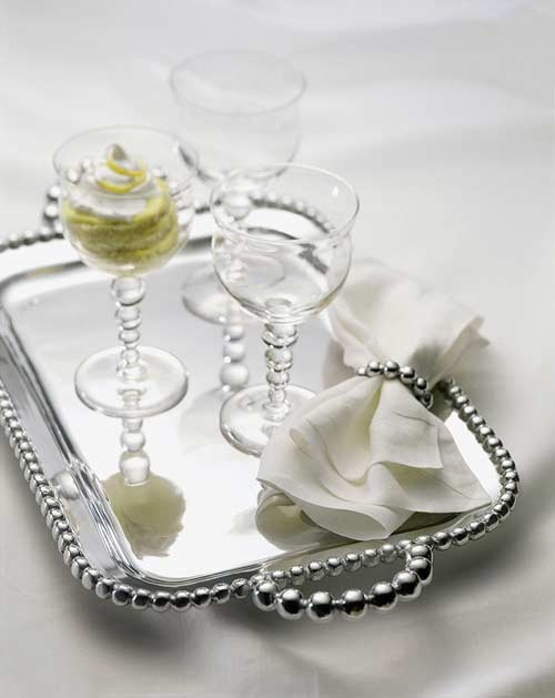 & Mariposa String of Pearls Small Service Tray