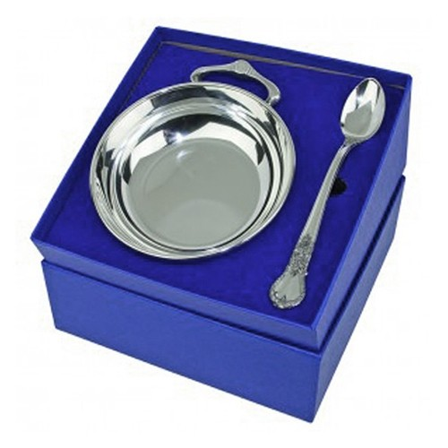 Salisbury Pewter Images Porringer Amp Spoon Baby Gift Set