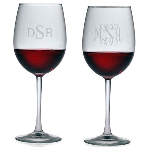 Susquehanna All Purpose Wine Glasses Monogram Set Of 4