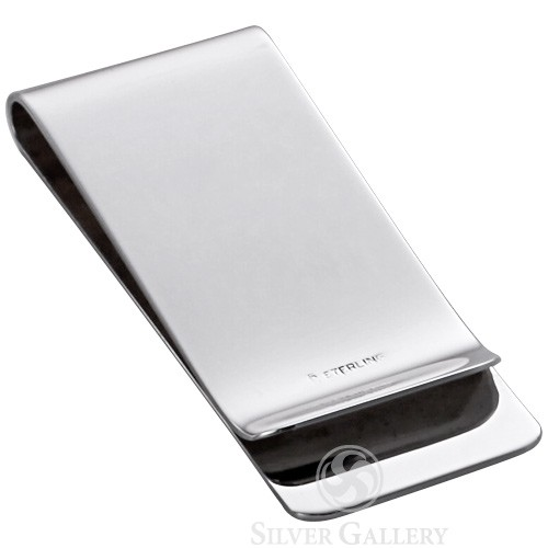 162b514c8765 Sterling Silver Classic Engine Turned Money Clip Back ...