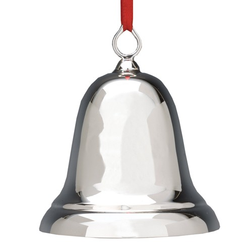 Reed and barton sterling plain bell ornament