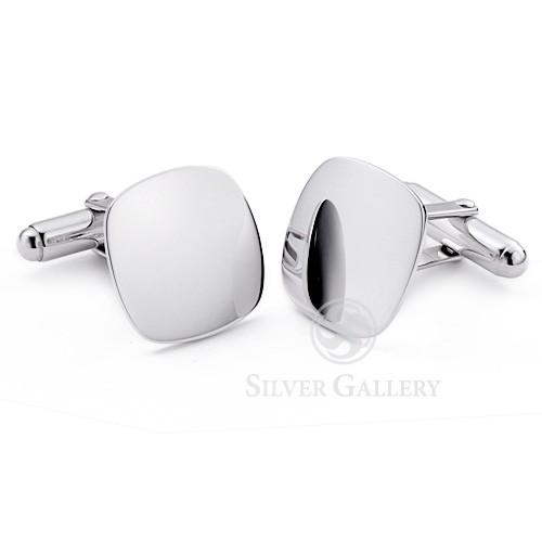 Sterling Silver Cushion Cufflinks