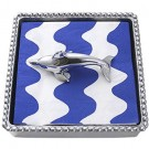 Mariposa Dolphin Beaded Napkin Box