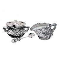 Arthur Court Grape Sugar and Creamer Set
