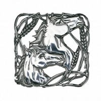 Arthur Court Horses and Wheat Trivet