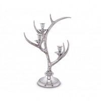 Arthur Court Antler Candlestick - 3 Light