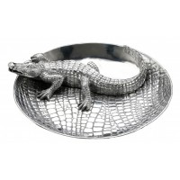 Arthur Court Alligator Chip and Dip Tray