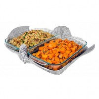 Arthur Court Holiday Turkey Casserole Dish - 2 Quart Double