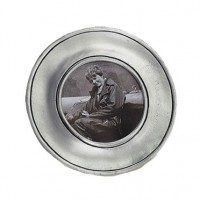 Match Pewter Lombardia Round Frame - Small