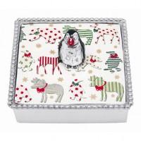 Mariposa Penguin Napkin Box