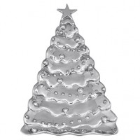 Mariposa Christmas Tree Server - Silver