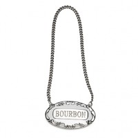 Empire Sterling Silver Decanter Label - Bourbon
