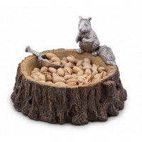 Arthur Court Standing Squirrel Nut Bowl w/Acorn Scoop
