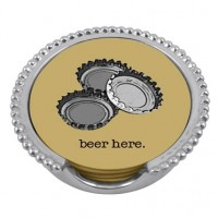 "Mariposa ""Beer Here"" Beaded Coaster Set"