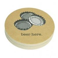 """Mariposa """"Beer Here"""" Coaster Refills - Pack of 12"""