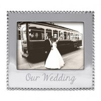 "Mariposa ""Our Wedding"" Picture Frame - 5 x 7"