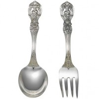 Reed & Barton Francis I Sterling Silver Baby Fork & Spoon Set