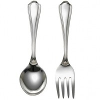 Reed & Barton Sterling Silver Petite Baby Spoon & Fork Set