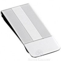 Sterling Silver Column Money Clip