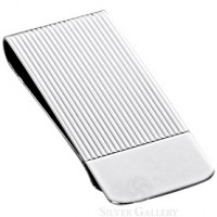 Sterling Silver Linear Money Clip
