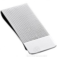 Sterling Silver Embossed Money Clip