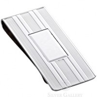 Sterling Silver Classic Engine Turned Money Clip