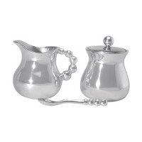 Mariposa Pop Bead Creamer and Sugar with Lid