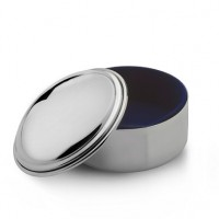 Empire Pewter Round Engravable Jewelry Box