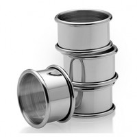 Empire Pewter Plain Napkin Rings - Set of 4