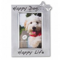 Arthur Court Vertical Happy Dog Happy Life Picture Frame - 4 x 6